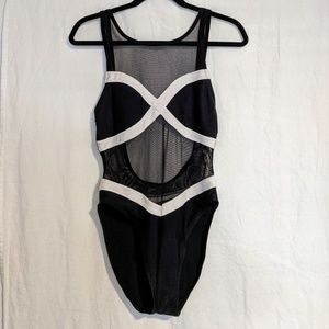 Anne Cole swimsuit black and white
